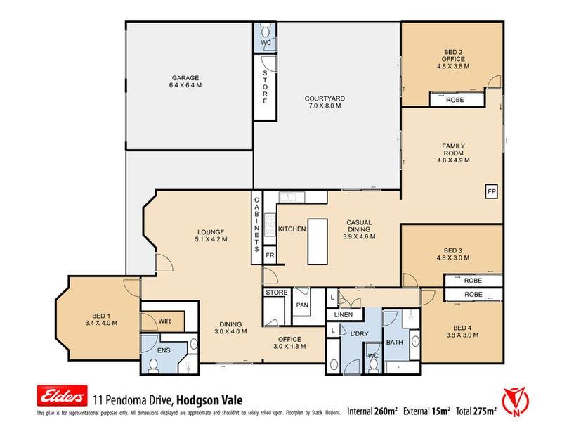 11 Pendoma Drive, Hodgson Vale, Qld 4352 - floorplan