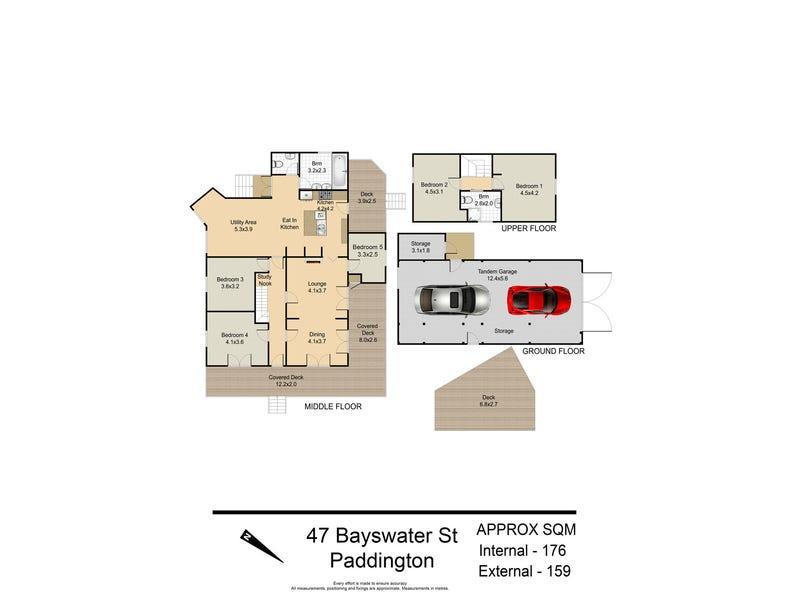 47 Bayswater Street, Paddington, Qld 4064 - floorplan