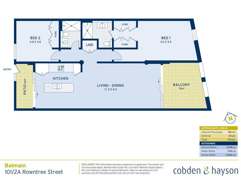 101/2A Rowntree Street, Balmain, NSW 2041 - floorplan