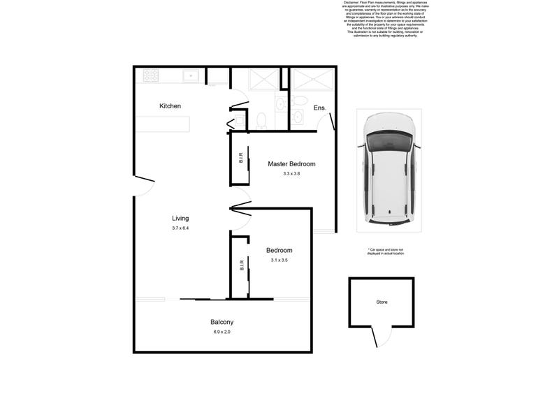 306/16  Leake Street, Essendon, Vic 3040 - floorplan