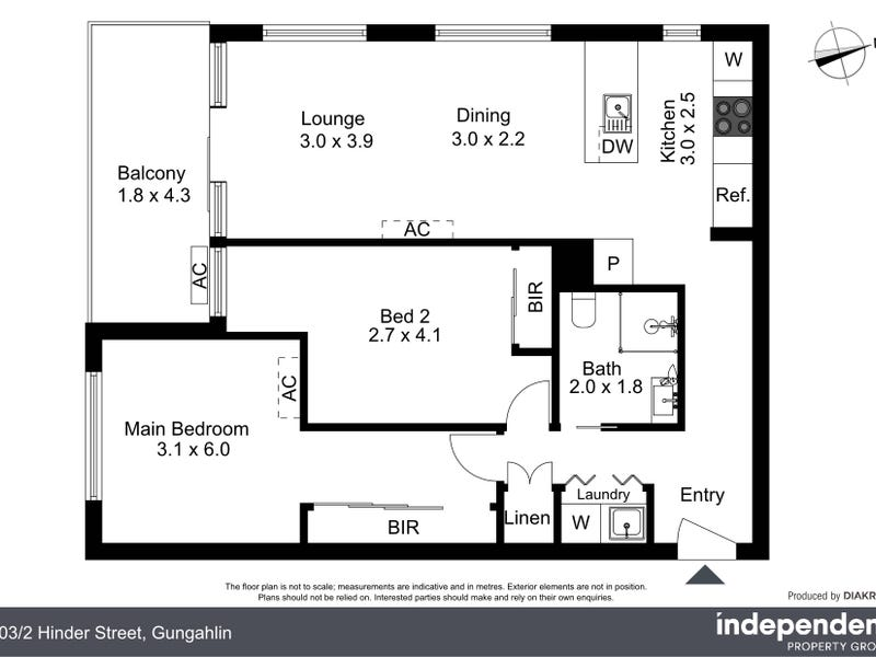103/2 Hinder Street, Gungahlin, ACT 2912 - floorplan