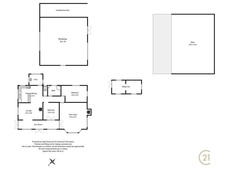 68 Creeleys Road, Sassafras, Tas 7307 - floorplan
