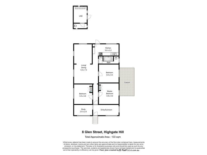 8 Glen Street, Highgate Hill, Qld 4101 - floorplan