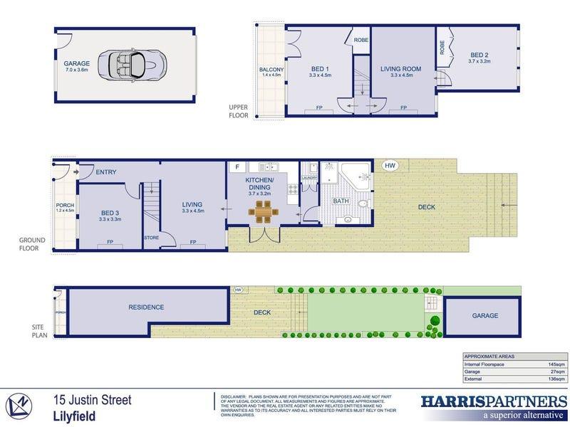 15 Justin Street, Lilyfield, NSW 2040 - floorplan
