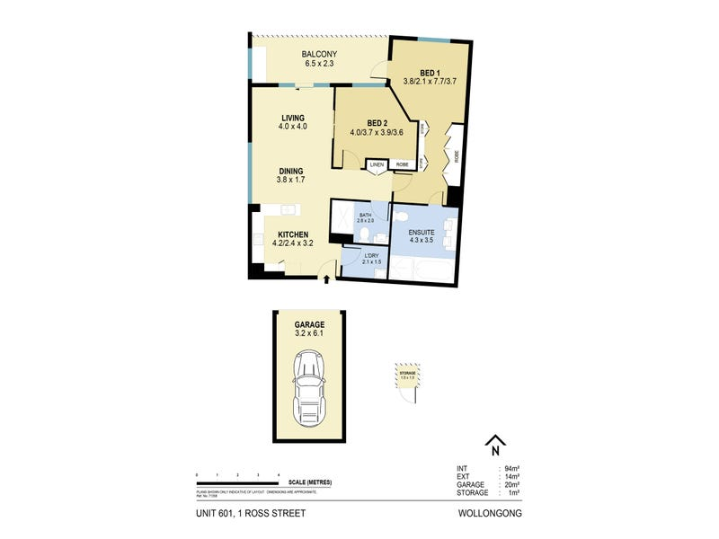 601/1 Ross Street, Wollongong, NSW 2500 - floorplan