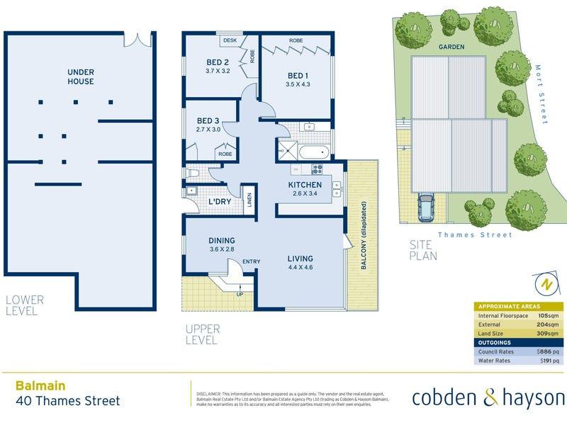 40 Thames Street, Balmain, NSW 2041 - floorplan