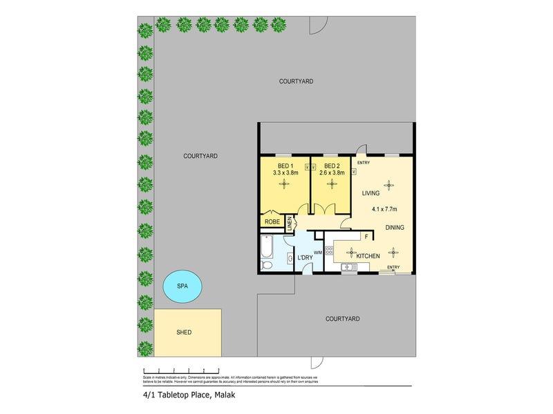 4/1 Tabletop Place, Malak, NT 0812 - floorplan