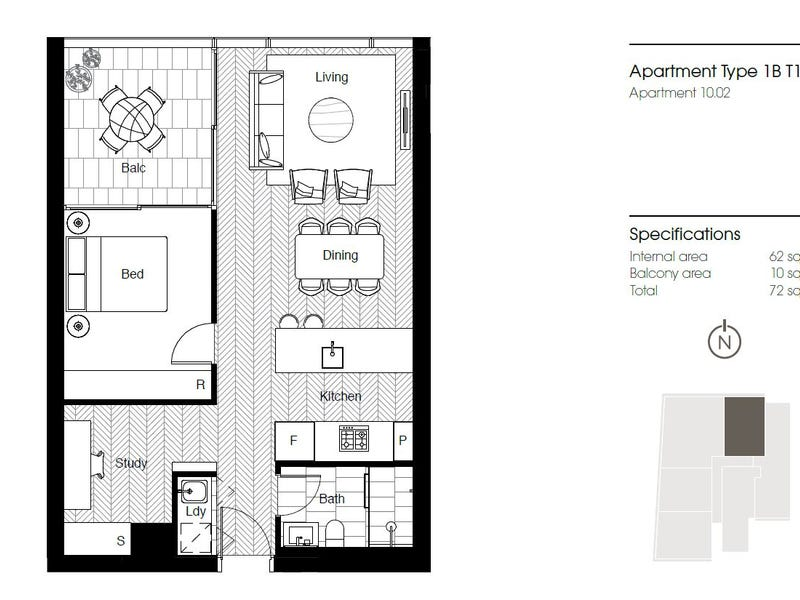 Lvl 10/130 Elizabeth Street (North Aspect! Direct Facing Hyde Park View!), Sydney, NSW 2000 - floorplan