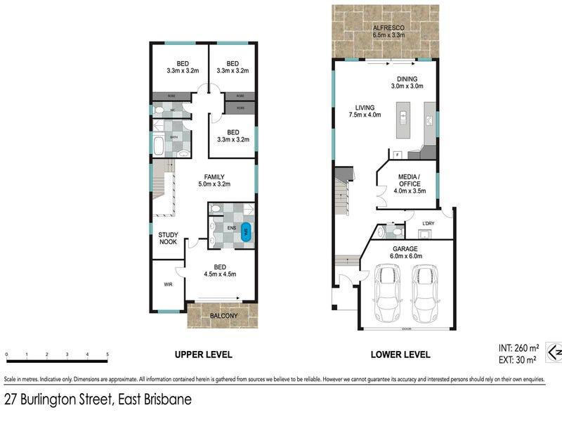 27 Burlington Street, East Brisbane, Qld 4169 - floorplan