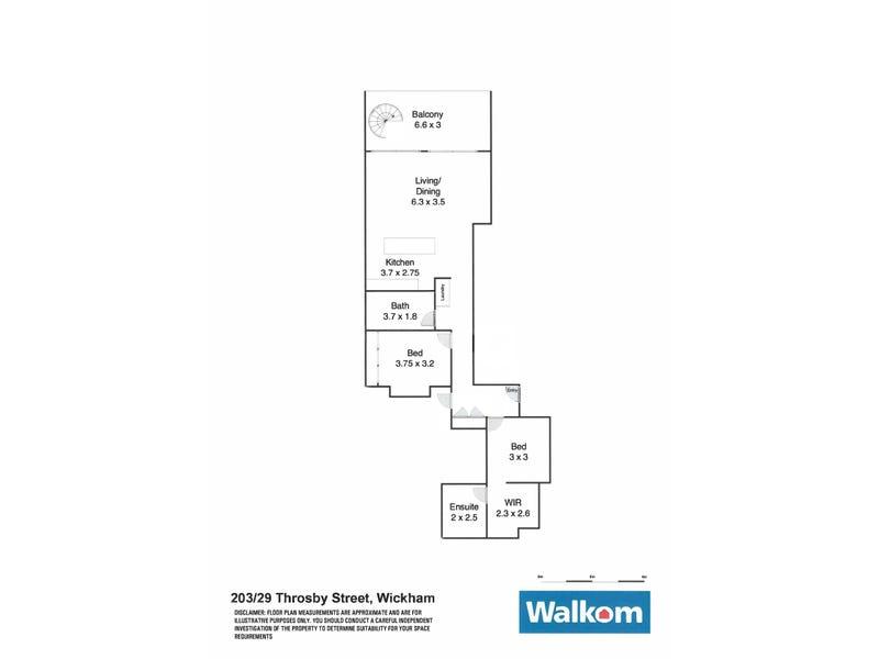 203/29 Throsby Street, Wickham, NSW 2293 - floorplan
