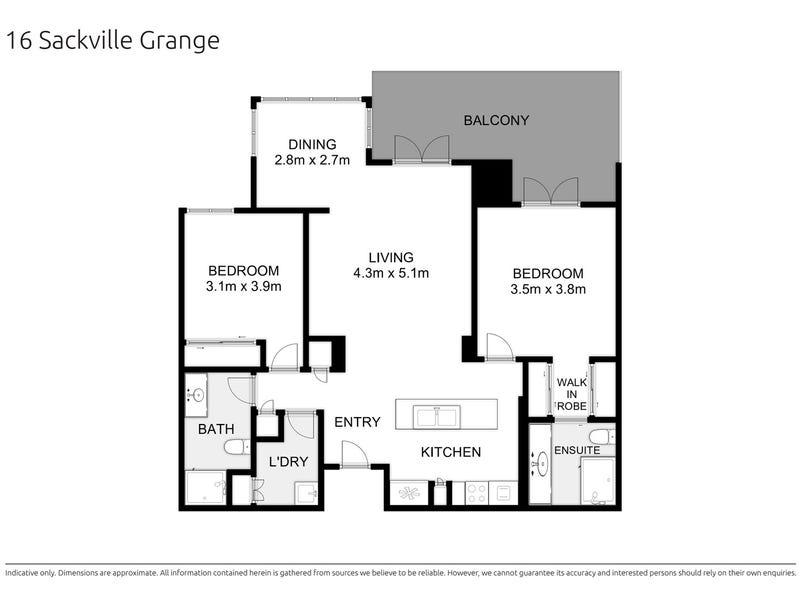 16/378 Cotham Road, Kew, Vic 3101 - floorplan