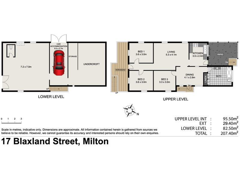 17 Blaxland Street, Milton, Qld 4064 - floorplan