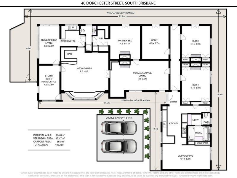 40 Dorchester Street, South Brisbane, Qld 4101 - floorplan