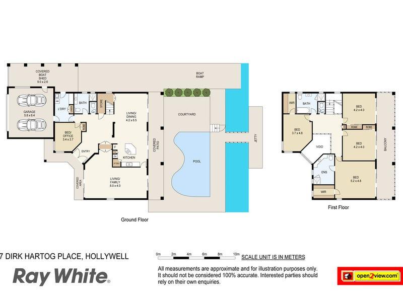 7 Dirk Hartog Place, Hollywell, Qld 4216 - floorplan