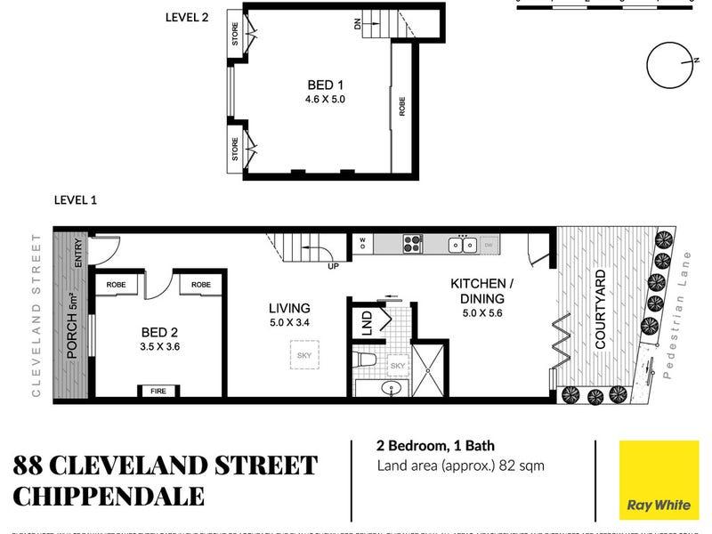 88 Cleveland Street, Chippendale, NSW 2008 - floorplan