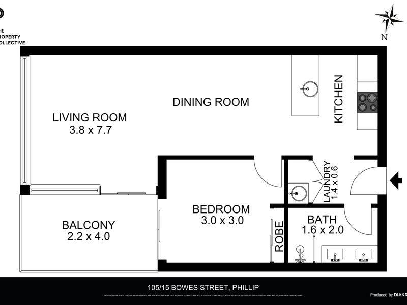 105/15 Bowes Street, Phillip, ACT 2606 - floorplan