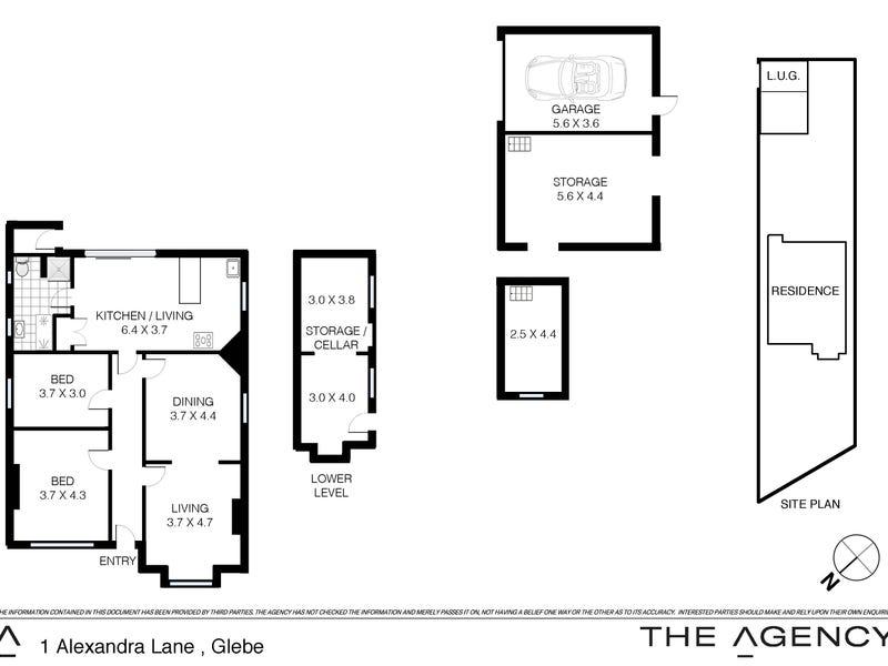 1 Alexandra Lane, Glebe, NSW 2037 - floorplan