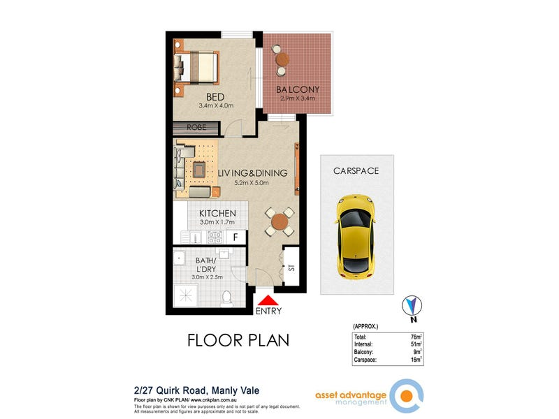 2/27 Quirk Rd, Manly Vale, NSW 2093 - floorplan