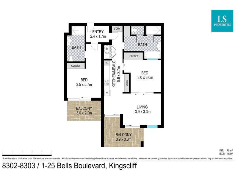 8302-8303/1-25 Bells Boulevard, Kingscliff, NSW 2487 - floorplan