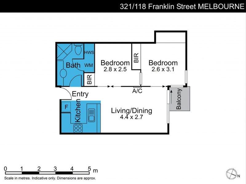 321/118 Franklin Street, Melbourne, Vic 3000 - floorplan