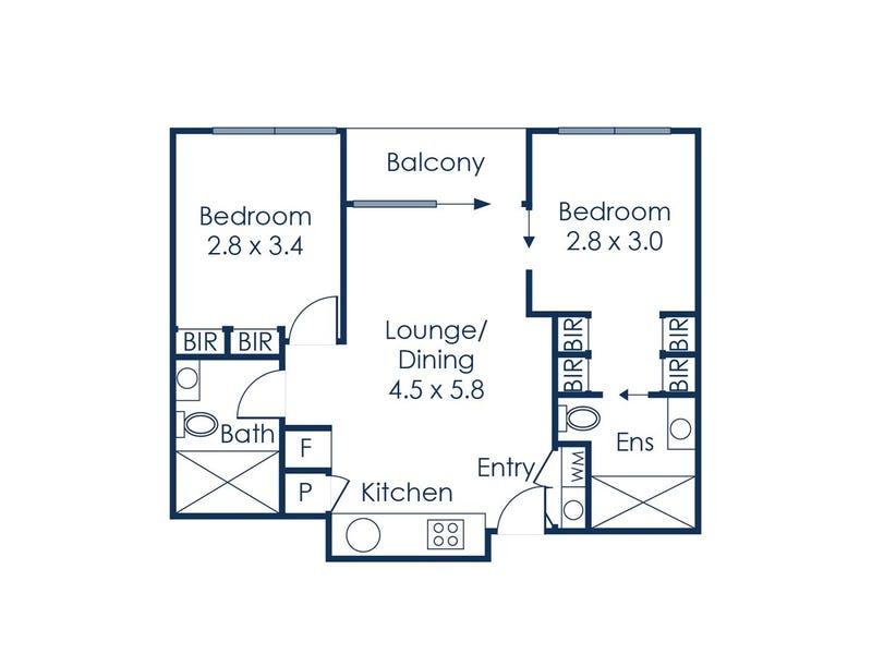 1111/393 Spencer St, Melbourne, Vic 3000 - floorplan