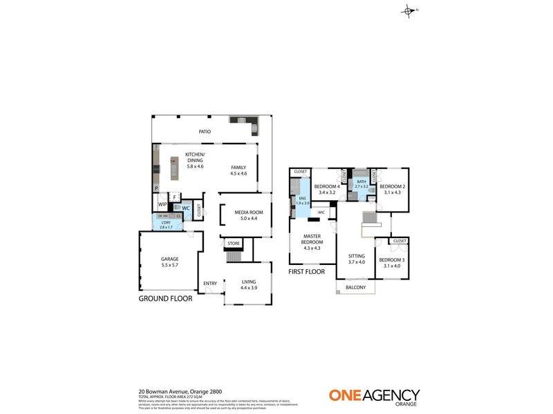 20 Bowman Avenue, Orange, NSW 2800 - floorplan