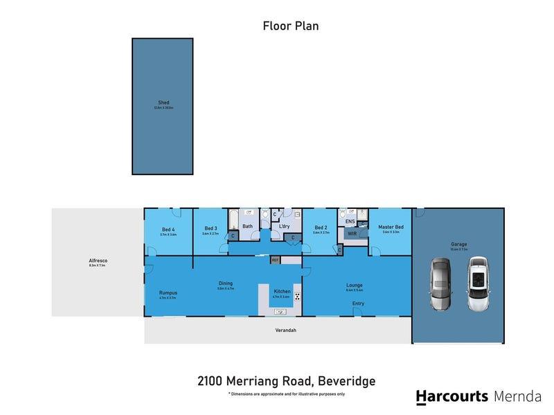 2100 Merriang Road, Beveridge, Vic 3753 - floorplan