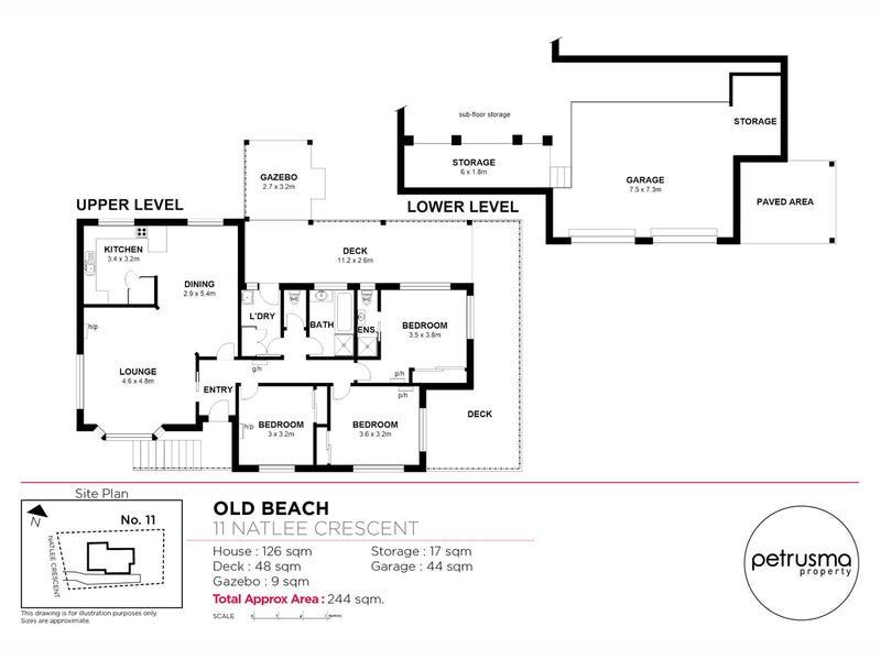 11 Natlee Crescent, Old Beach, Tas 7017 - floorplan