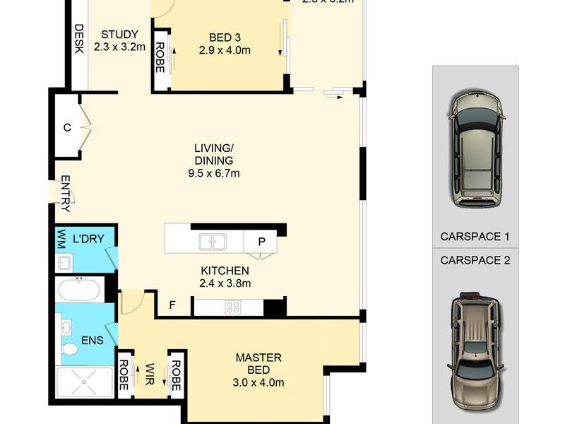 5003/438 Victoria Avenue, Chatswood, NSW 2067 - floorplan