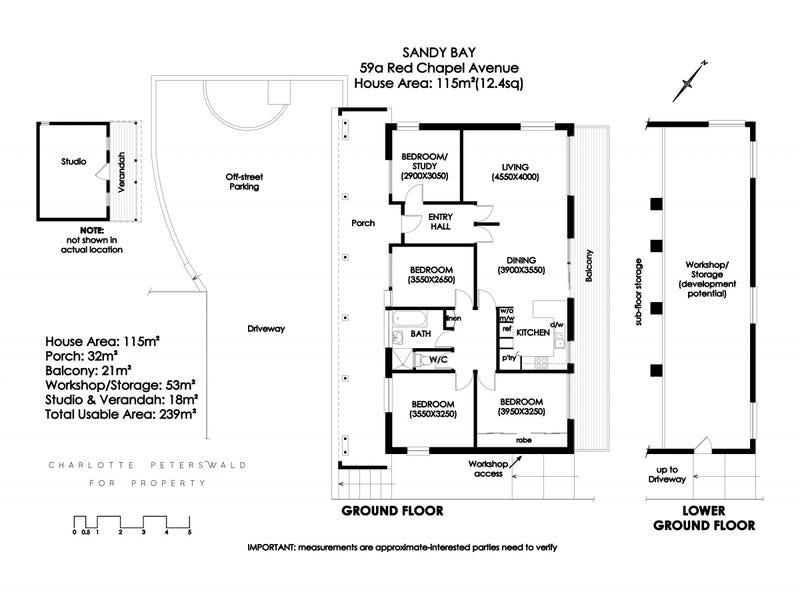 59a Red Chapel Avenue, Sandy Bay, Tas 7005 - floorplan