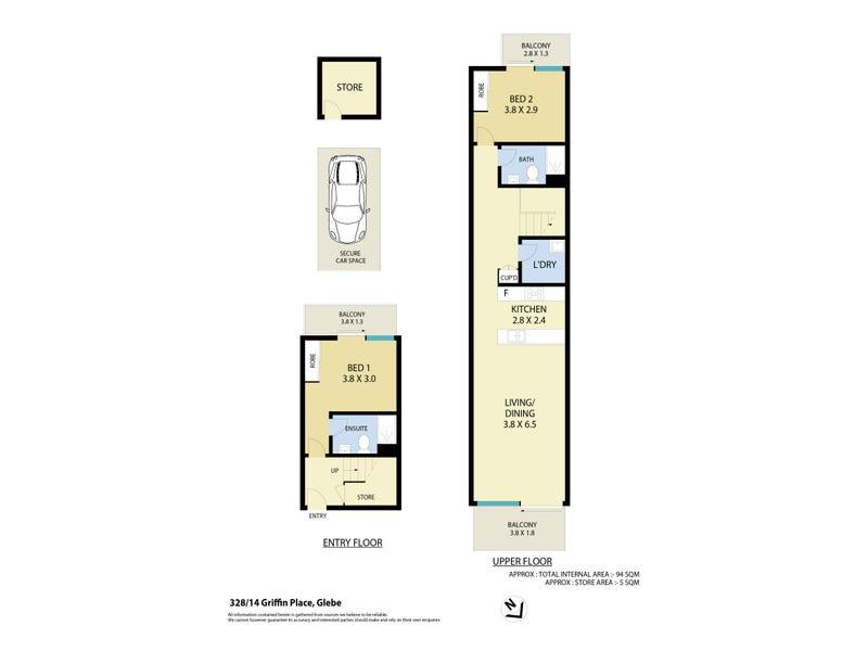 328/14 Griffin Place, Glebe, NSW 2037 - floorplan