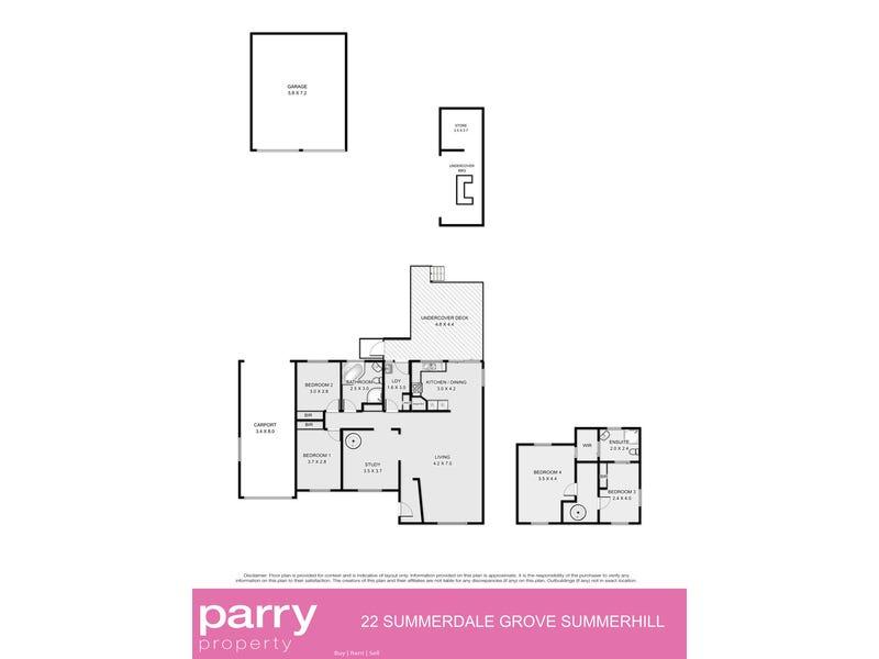 22 Summerdale Grove, Summerhill, Tas 7250 - floorplan