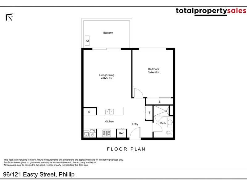 96/121 Easty Street, Phillip, ACT 2606 - floorplan