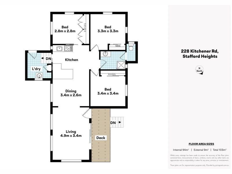 228 Kitchener Road, Stafford Heights, Qld 4053 - floorplan