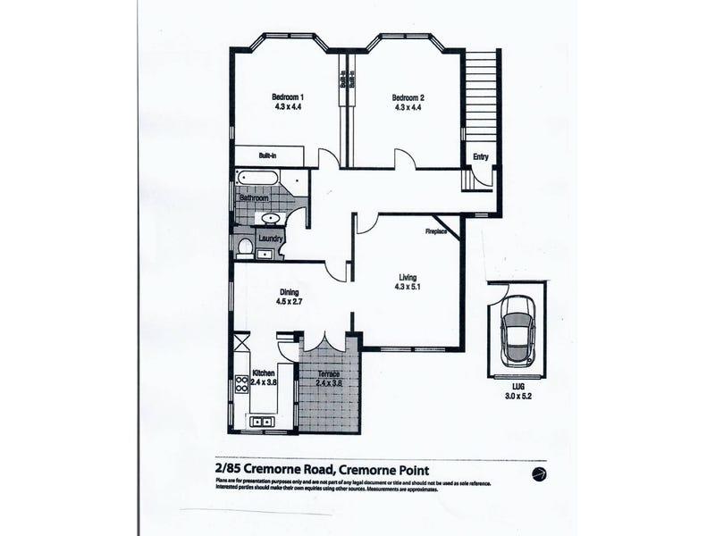 2/85 Cremorne Road, Cremorne Point, NSW 2090 - floorplan
