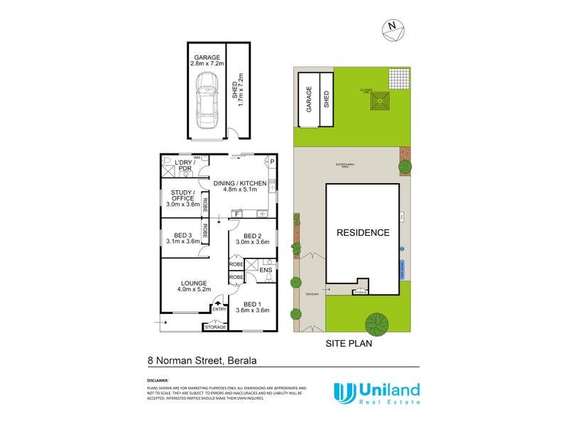 8 Norman Street, Berala, NSW 2141 - floorplan