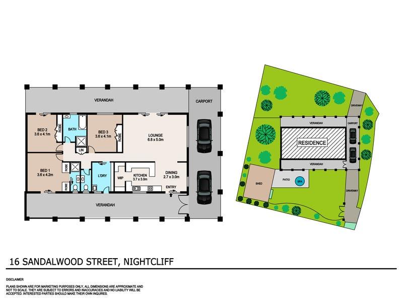16 Sandalwood Street, Nightcliff, NT 0810 - floorplan