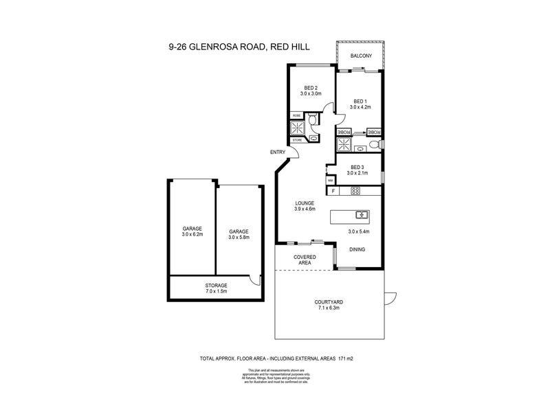 9/26 Glenrosa Road, Red Hill, Qld 4059 - floorplan
