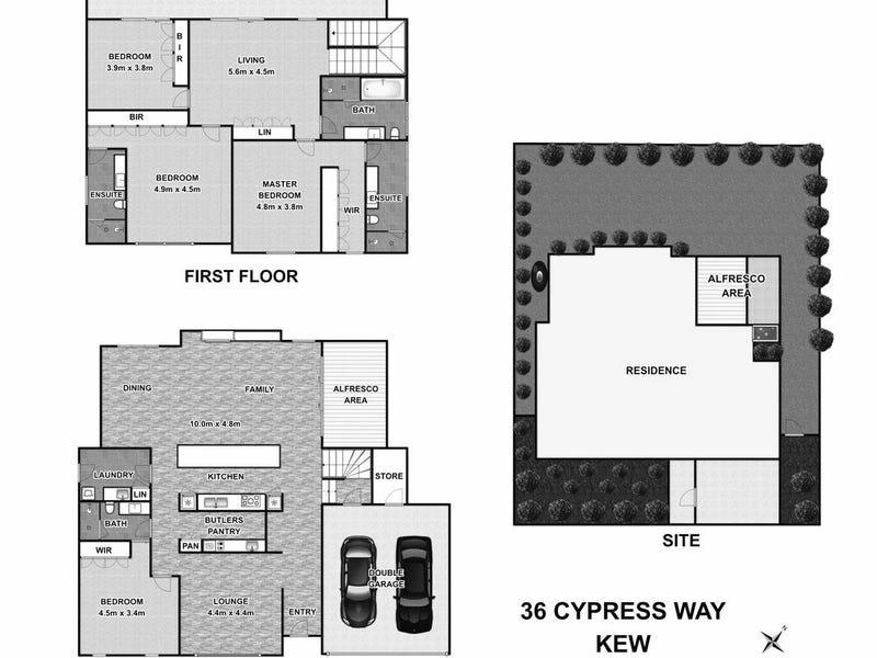 36 Cypress Way, Kew, Vic 3101 - floorplan