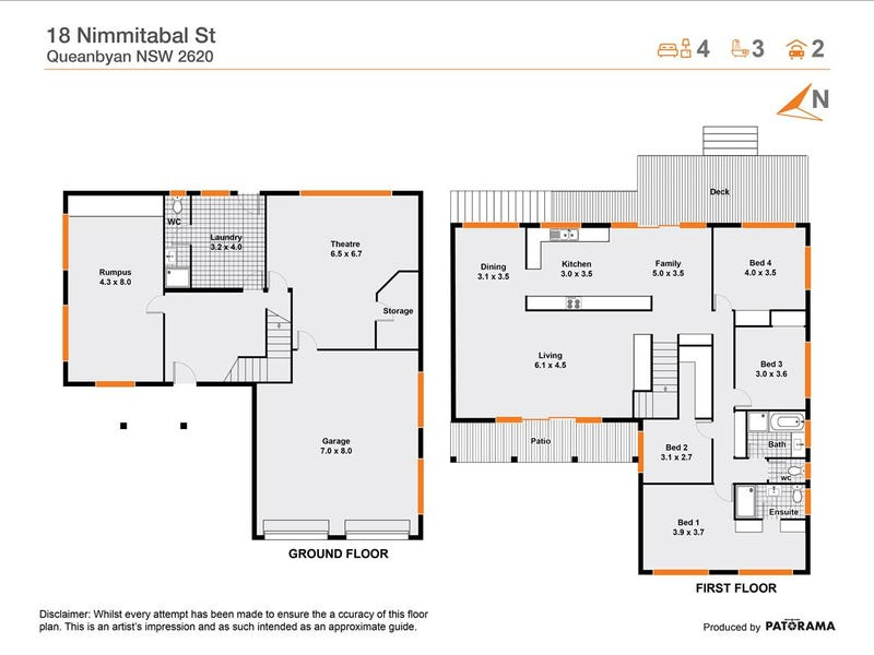 18 Nimmitabel Street, Queanbeyan, NSW 2620 - floorplan