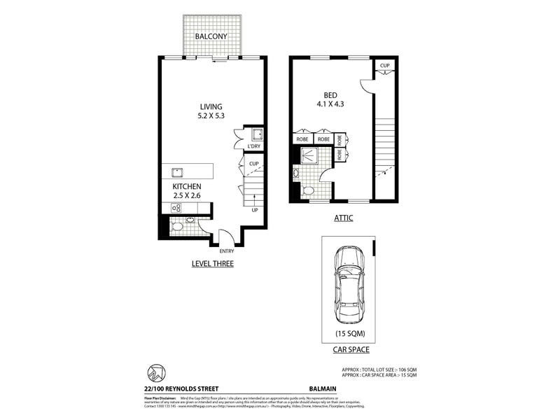 22/100 Reynolds Street, Balmain, NSW 2041 - floorplan