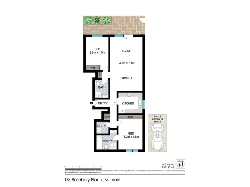 1/3 Rosebery Place, Balmain, NSW 2041 - floorplan