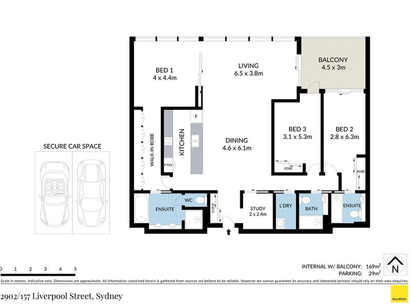 2902/157 Liverpool Street, Sydney, NSW 2000 - floorplan