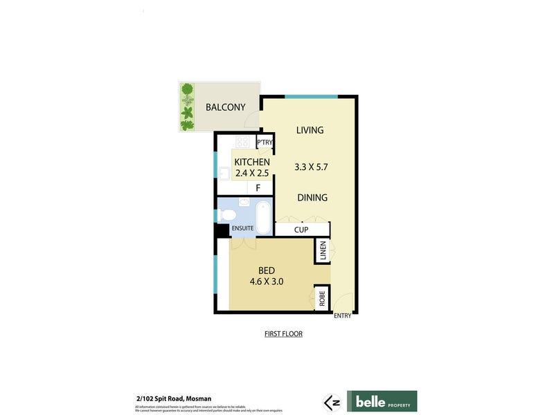 2/102 Spit Road, Mosman, NSW 2088 - floorplan