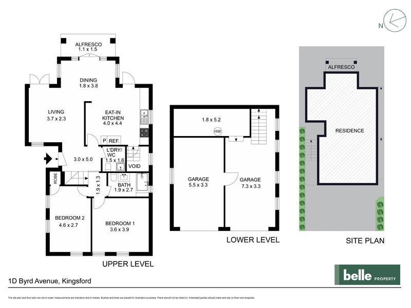 1D Byrd Avenue, Kingsford, NSW 2032 - floorplan