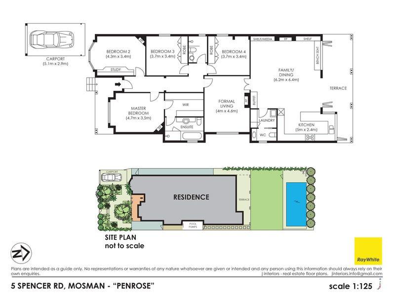 5 Spencer Road, Mosman, NSW 2088 - floorplan