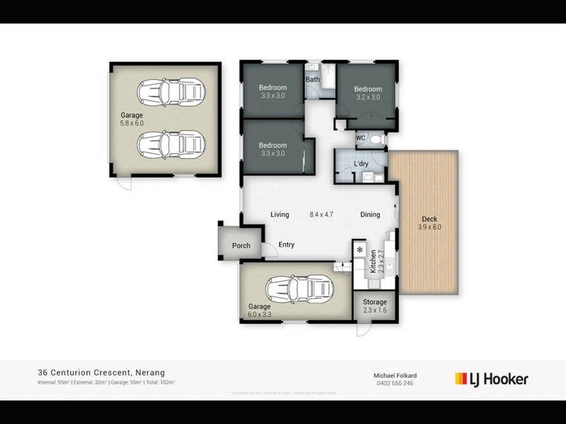 36 Centurion Crescent, Nerang, Qld 4211 - floorplan