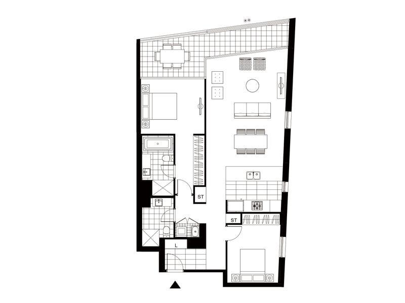 2306/7 Railway Street, Chatswood, NSW 2067 - floorplan