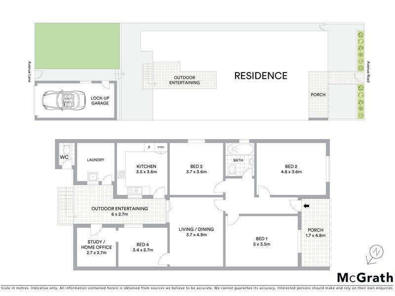 3 Avenue Road, Glebe, NSW 2037 - floorplan