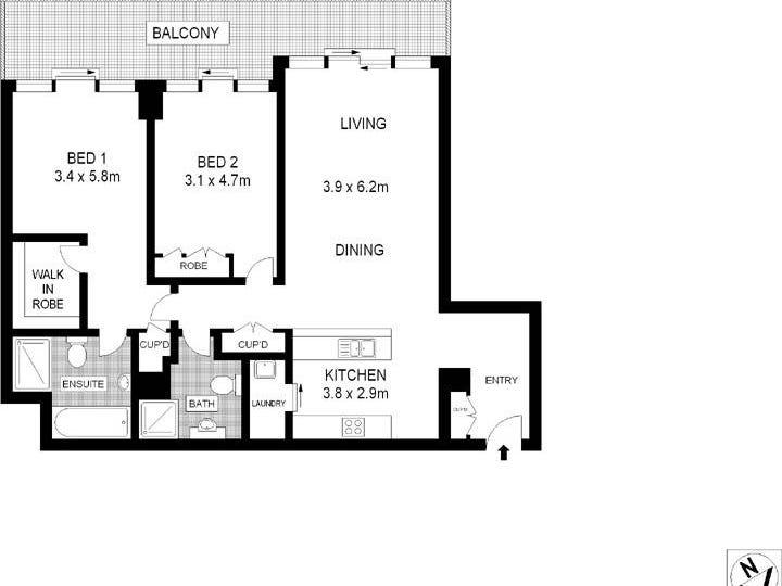 2603/183 Kent Street, Sydney, NSW 2000 - floorplan